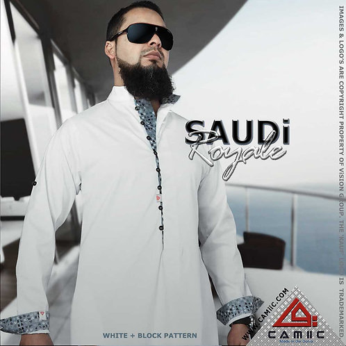 SAUDi ROYALE - WHITE+BLOCK