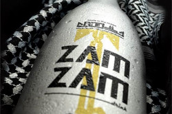 close up on zamzam bottle