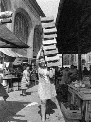 Rosa al mercato