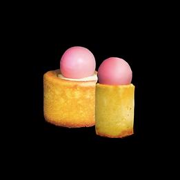 madeleine lemon cream strawberry pops cake