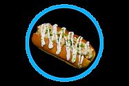 lobster and shrimp roll horseradish sauce brioche bun sandwich