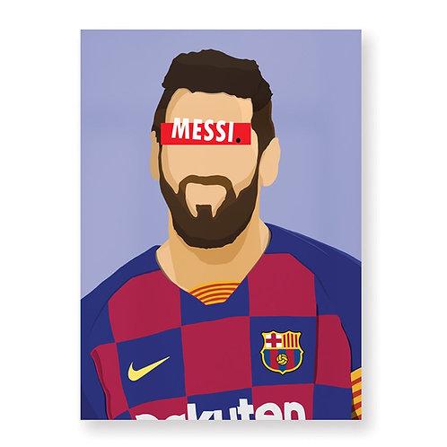 HUGOLOPPI - Affiche Lionel Messi