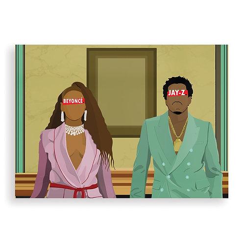 HUGOLOPPI - Affiche Jay-Z & Beyoncé