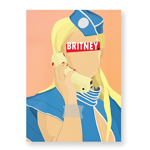 HUGOLOPPI - Affiche Britney Spears
