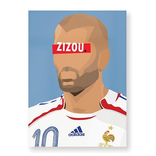 HUGOLOPPI - Affiche Zinédine Zidane