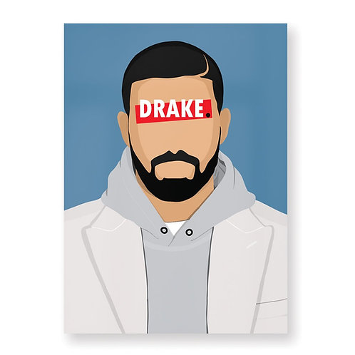 HUGOLOPPI - Affiche Drake