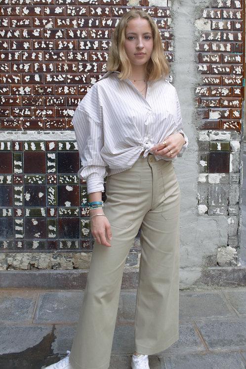 INNÉE PARIS - Pantalon jambe flare beige