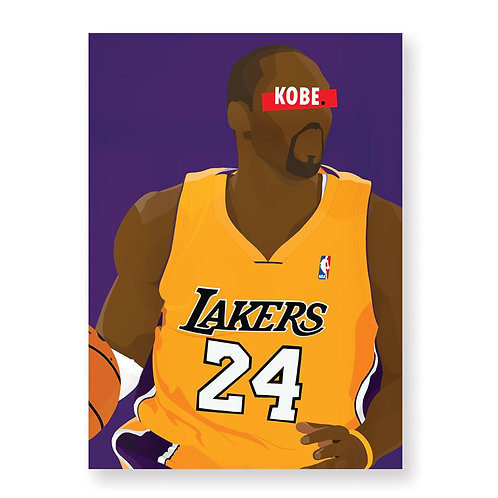 HUGOLOPPI - Affiche Kobe Bryant