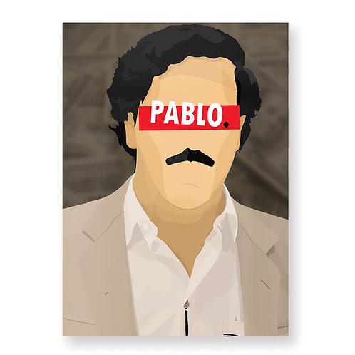 HUGOLOPPI - Affiche Pablo Escobar