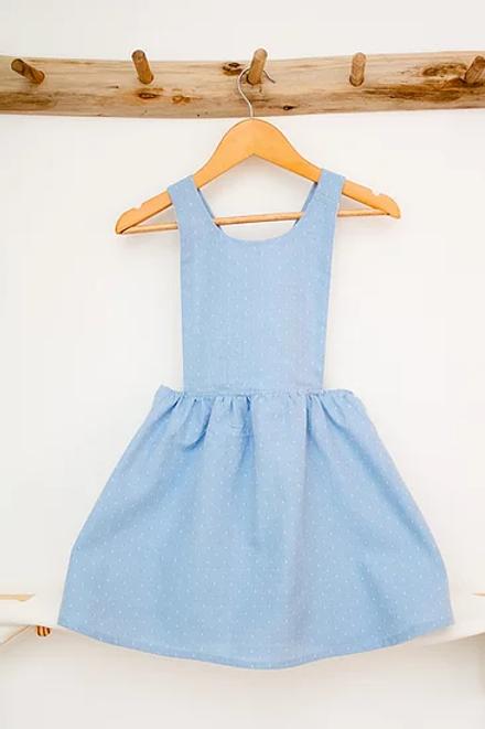 CITRON CHANTILLY - Robe tablier Meringue Bleue