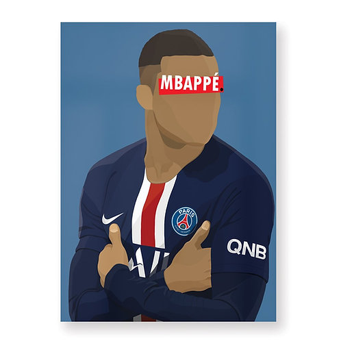 HUGOLOPPI - Affiche Kylian Mbappé PSG