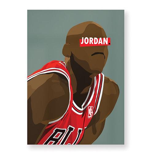 HUGOLOPPI - Affiche Michael Jordan
