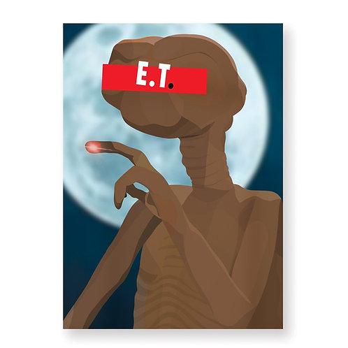 HUGOLOPPI - Affiche E.T l'extra-terrestre