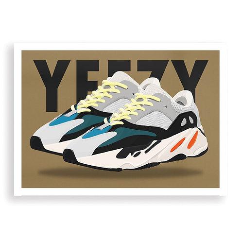 HUGOLOPPI - Affiche Yeezy Boost 700