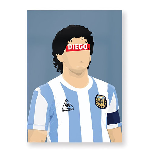HUGOLOPPI - Affiche Diego Maradona