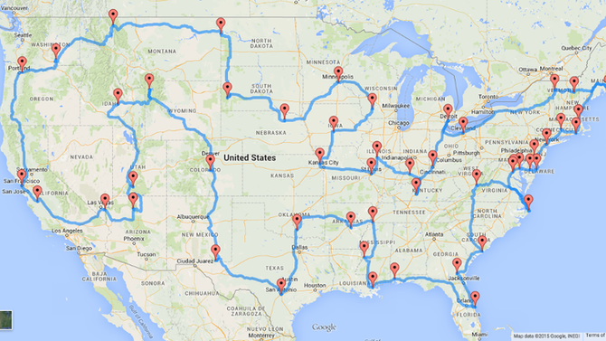 Perfect U.S.A. Road Trip