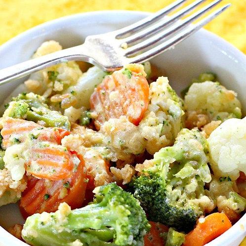 Mini Broccoli and Cauliflower Casserole