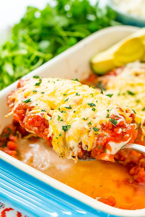 Salsa Baked Chicken Breast 'Casserole'