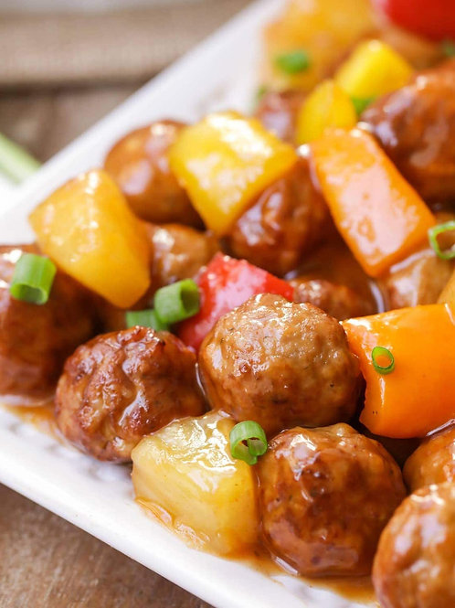Sweet and Sour Meatball Dinner