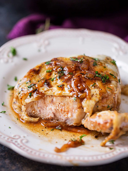French Onion Pork Loin
