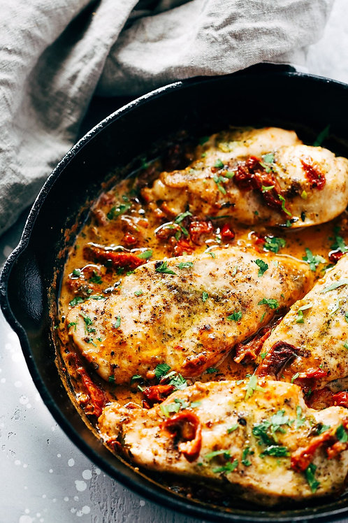 Italian Chicken Breast Dinner with Sundried Tomatoes