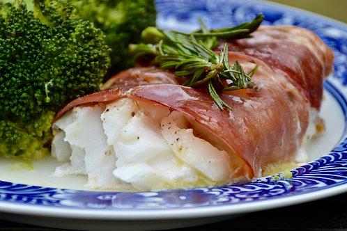 Prosciutto wrapped Cod Dinner