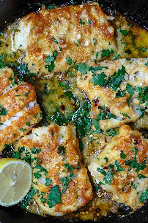 Lemon Garlic Cod w/ Chickpeas