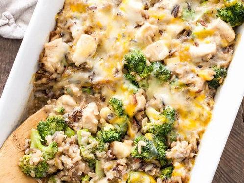 Cheesey Chicken Broccoli and Wild Rice Casserole