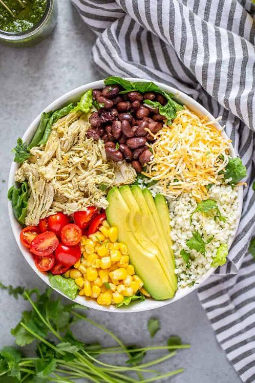 Salsa Verde Chicken Burrito Bowl