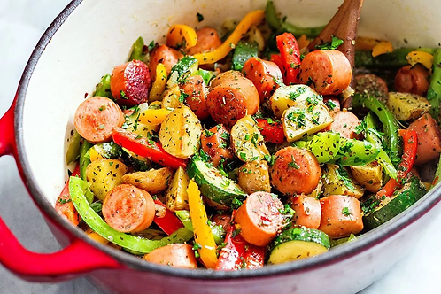 Chicken Sausage and Veggie Lunch Bowl