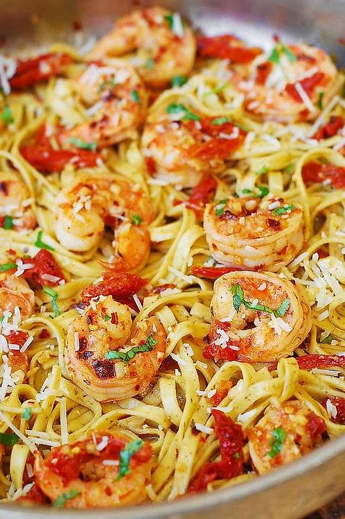 Shrimp Scampi Linguini Dinner