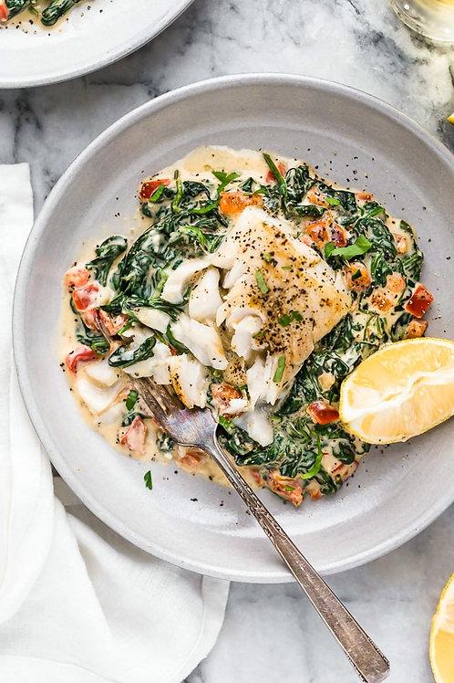 Peppered Fish Florentine