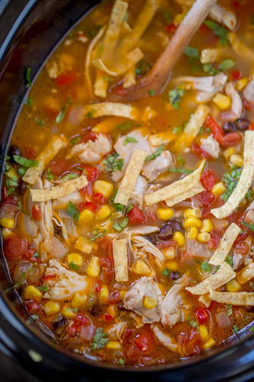 Chicken Tortilla Soup and Fiesta Grilled Cheese