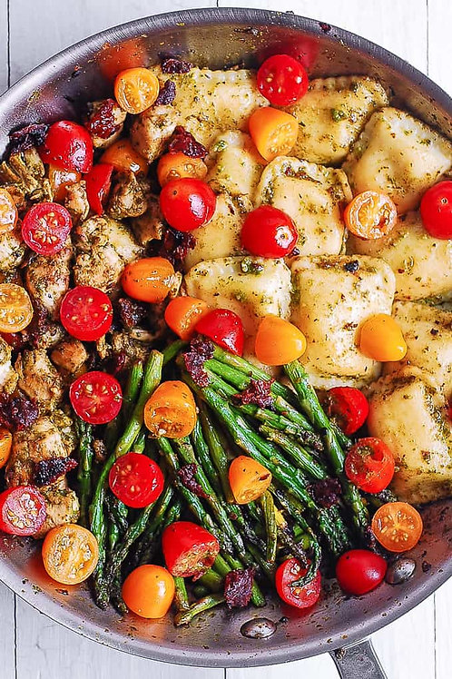 Spring Italian Vegetable Ravioli Bowl