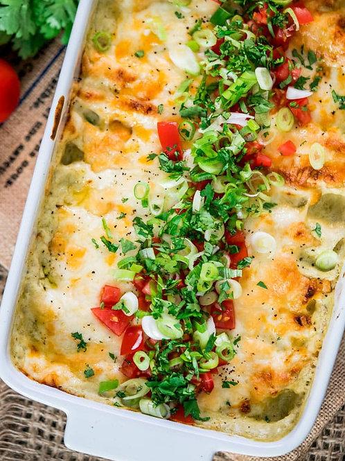 Green Chile Chicken Enchilada Dinner