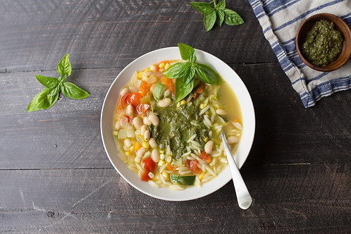 Summer Orzo Soup and Bruscetta Grilled Cheese