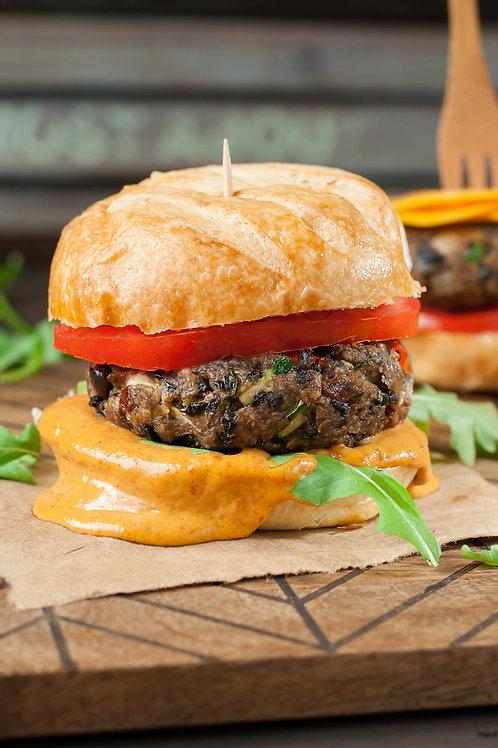 Chipotle Cheddar Black Bean Burger Bowl
