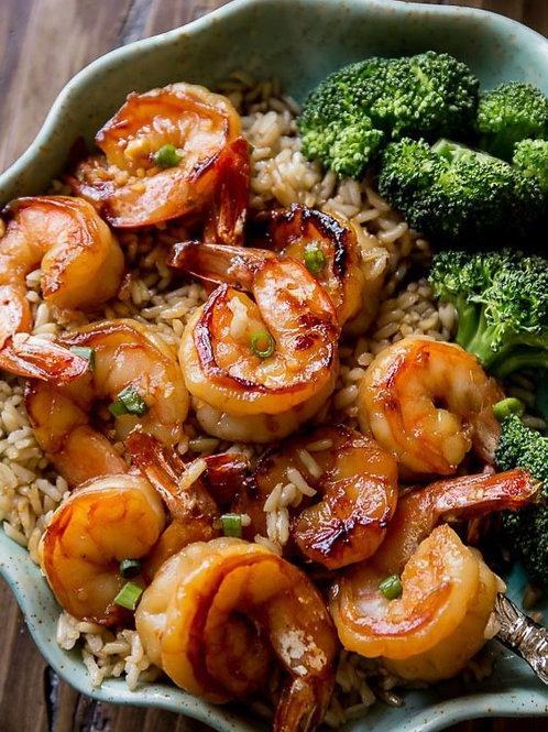 Honey Garlic Shrimp Dinner