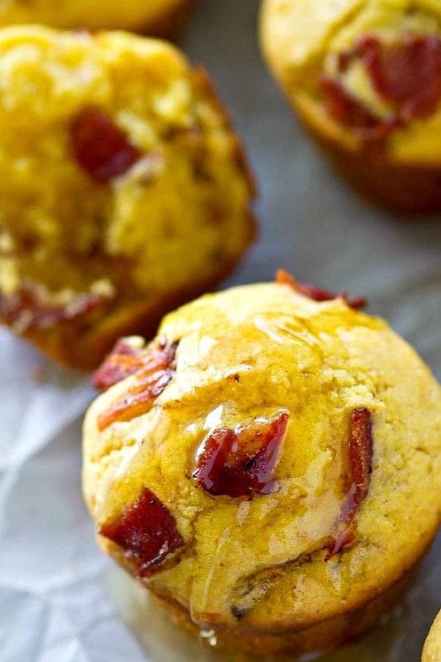 Honey Bacon Cornbread Muffins