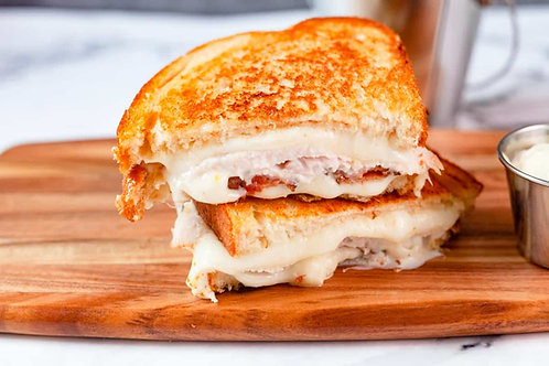 Gourmet Grilled Cheese w/ Turkey and Rosemary Aioli