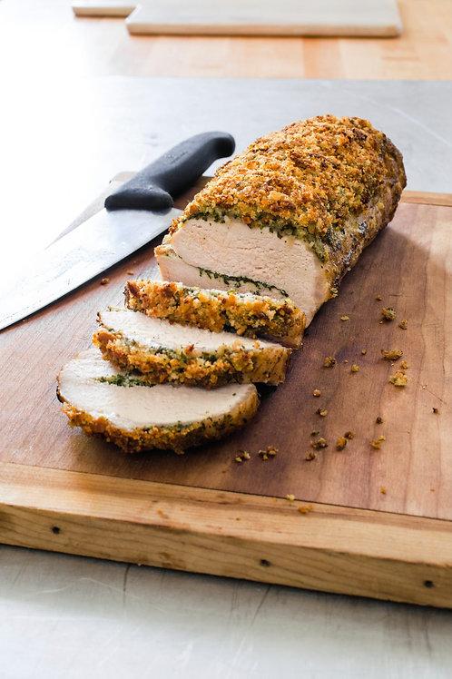Stuffing Crusted Pork Loin Dinner