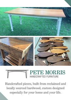 Pete Morris Furniture Product Flyer- Front