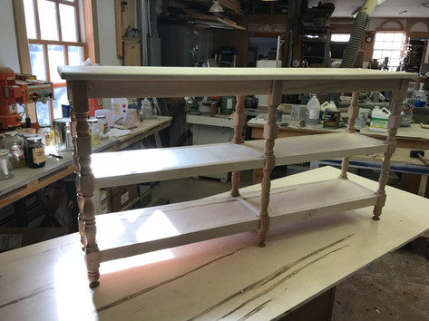 Sofa Table with Reclaimed Splindles