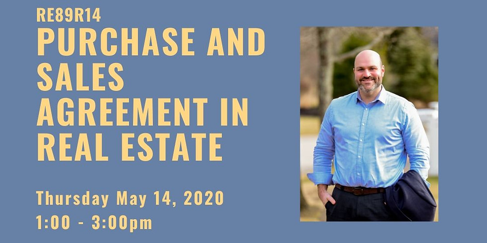 CEU Webinar: Purchase & Sales Agreements in Real Estate