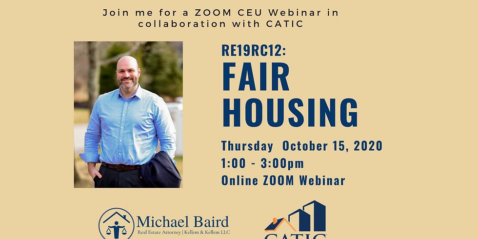 CEU Webinar: Fair Housing