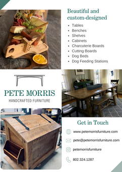 Pete Morris Furniture Product Flyer- Back