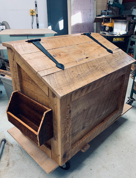 Firewood Storage Box Made From Reclaimed Barnwood