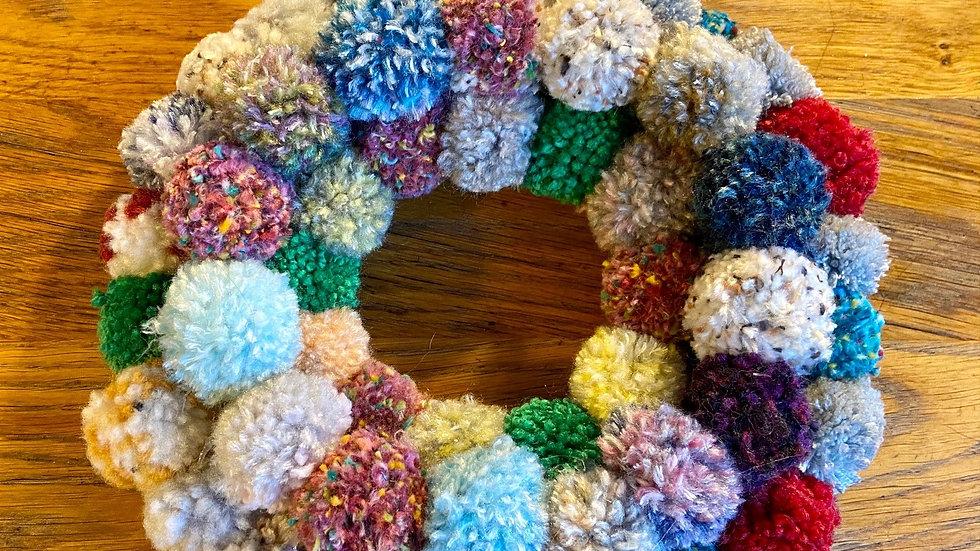 Pompom Wreath - Multicoloured