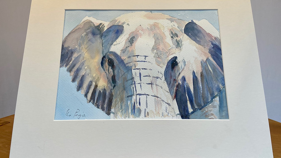 African Bull Elephant Painting
