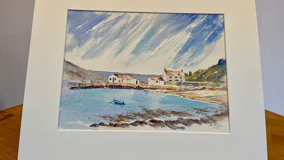 Tresco Harbour Painting